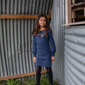 Quapi Meisjes jurk - Kailyn - Blauw