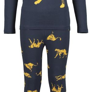 HEMA Kinderpyjama Cheetah Geel (geel)