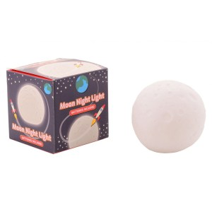 Kinderkamer maanlamp/nachtlampje rond 8,5 cm wit