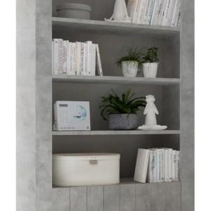 Buffetkast Urbino 190 cm hoog in grijs beton