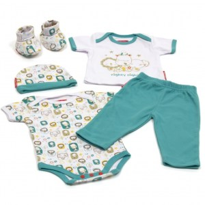 Fisher-Price babykleding in Giftbox 5-delig blauw