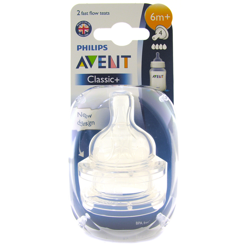 Phillips Avent Classic Bottle Teat Choice of Flows One ...
