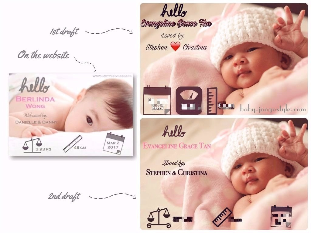 Baby In Love Announcement card
