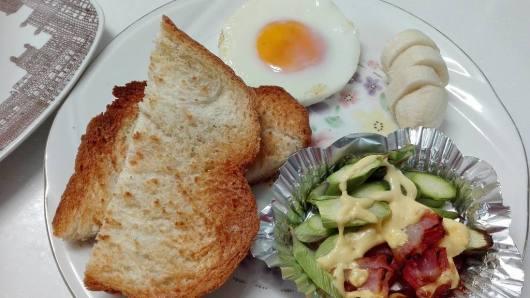 ヘルシオ同時調理 朝食セット2