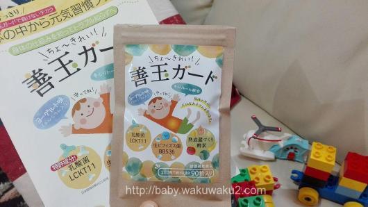 善玉ガード 子供の便秘対策 ヨーグルト味 健康補助食品
