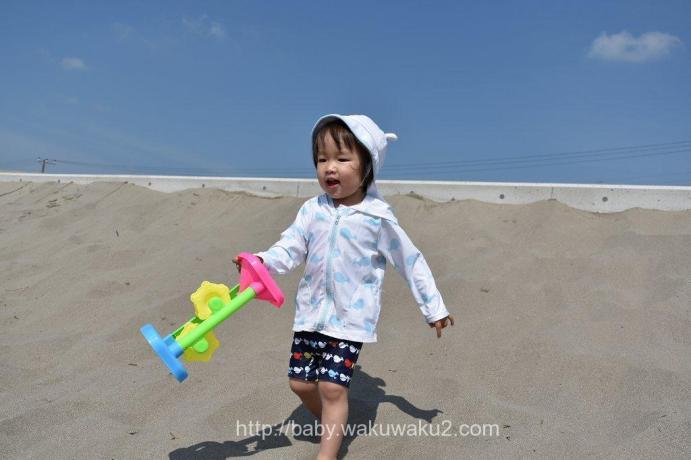 こゆたん 2歳9ヶ月 海水浴 海 2歳児