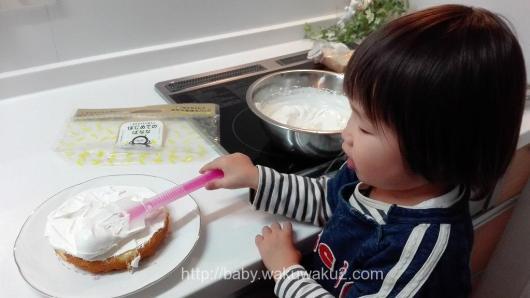 クリスマスケーキ手作り 3才