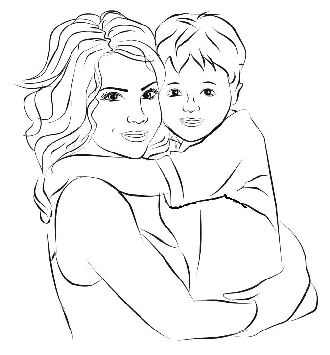 Спокойной, картинки с днем матери нарисованные