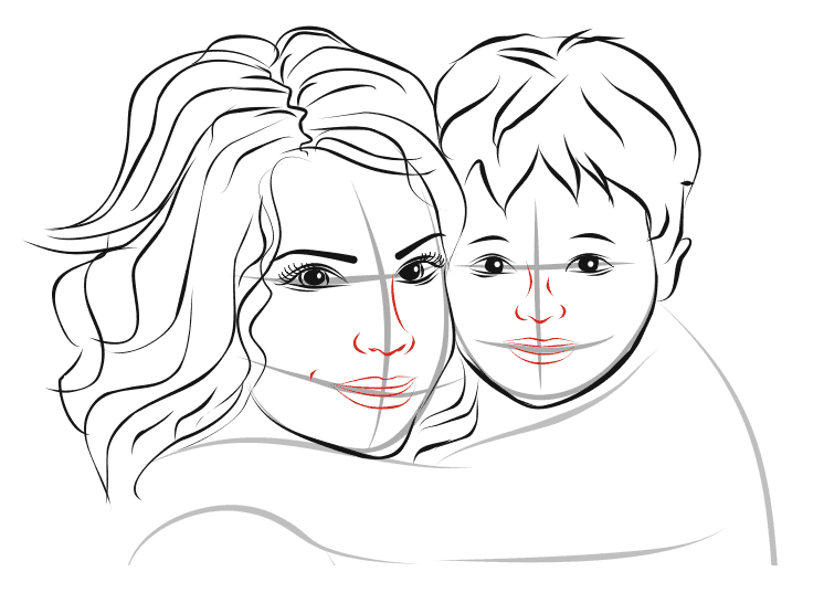 Рисунок с днем мамы карандашом поэтапно для детей