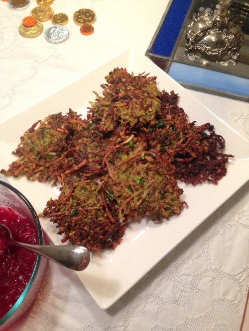 Brussels Sprouts and Sweet Potato Latkes