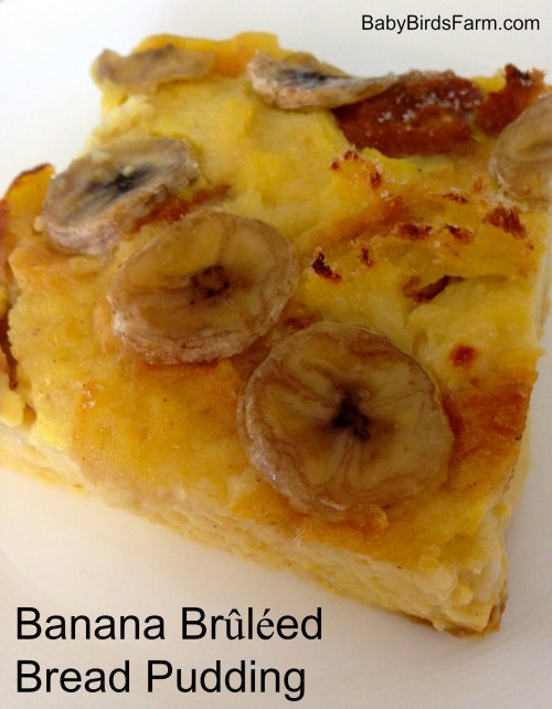 Banana Brûléed Bread Pudding