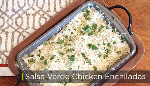 salsa verde chicken enchilada