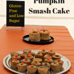 pumpkin smash cake and cupcakes, gluten free, low sugar