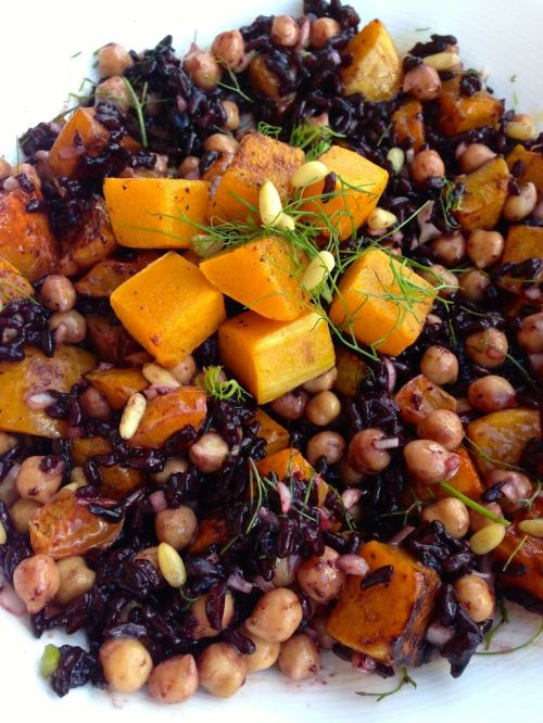 Butternut Squash, Chick Pea and Black Rice