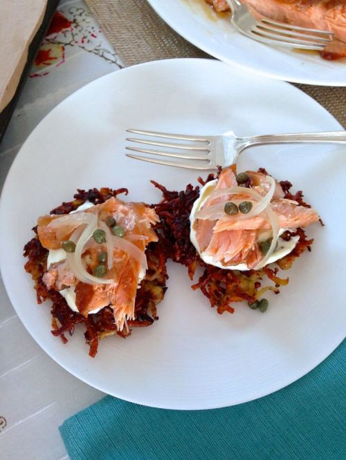 latkes and lox