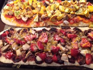 strawberry balsamic pizza