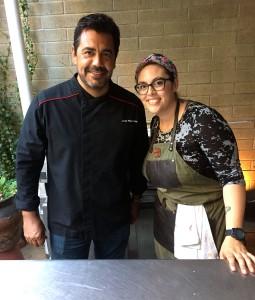 Tijuana chef, Javier Plascencia, and Bracero chef de cuisine Claudette Zepeda-Wilkins.