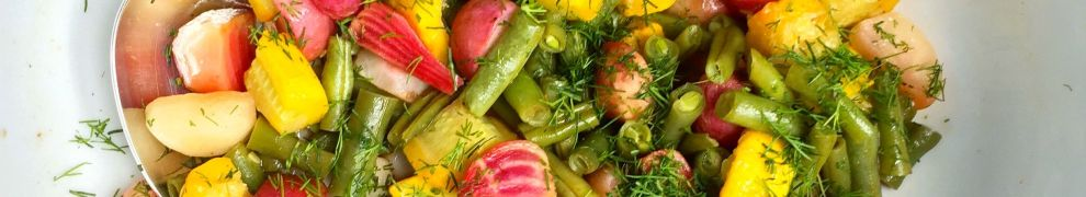 Roasted beets, radishes, squash and green beans with an orange-dill vinaigrette [recipe]