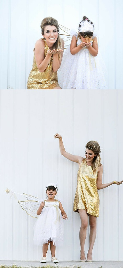 Creative Mom and Daughter Halloween Costumes - Fairy and Pixie Dust