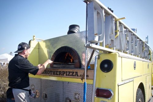 Dang Brother Pizza Fire Truck Pizza Oven at the Farm to Bay - Living Coast Discovery Center