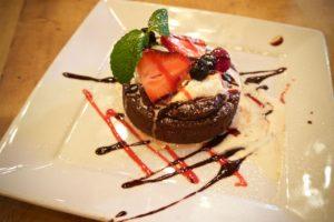 Molten Chocolate Cake at Farmer's Bottega Restaurant in Mission Hills, San Diego
