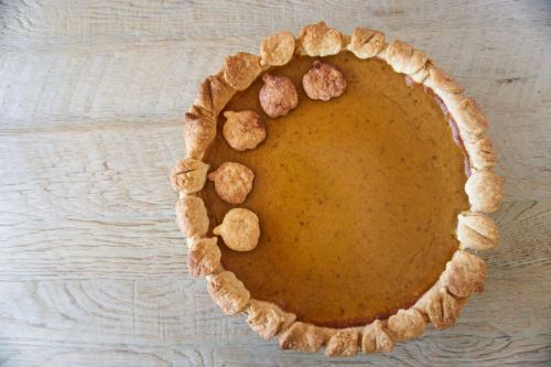 real pumpkin pie