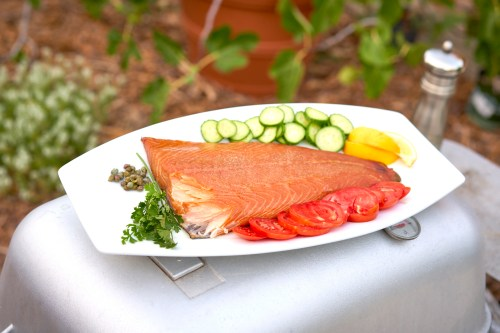 smoked salmon - fresh salmon from kvaroy arctic via Fulton fish market