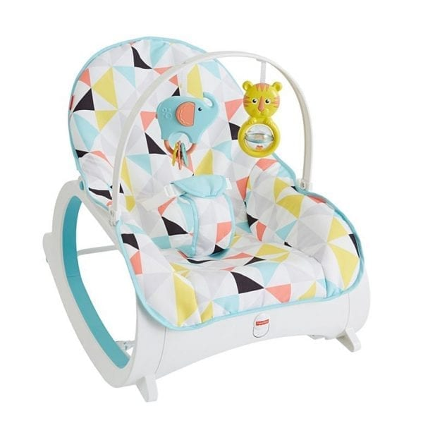 toddler high chair booster seat desk mat for carpet fisher-price infant-to-toddler rocker, geo multicolor | babybliss