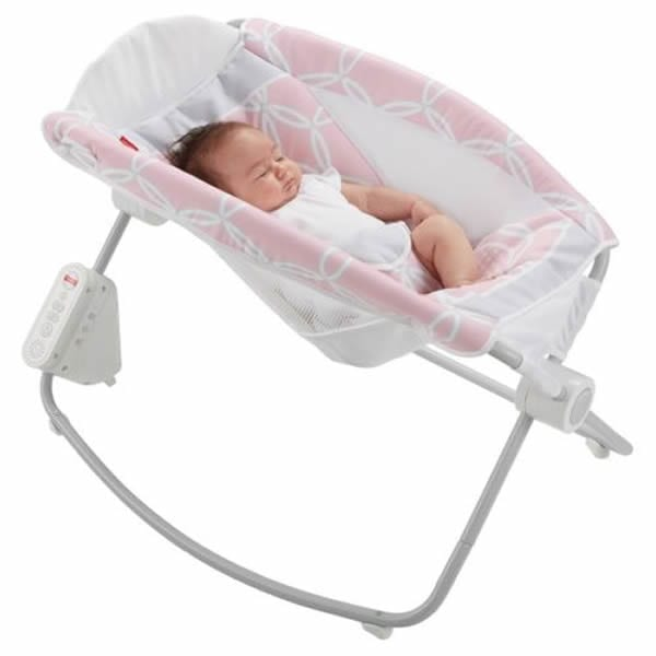 Fisher Price Auto Rock n Play Sleeper Pink  Babybliss