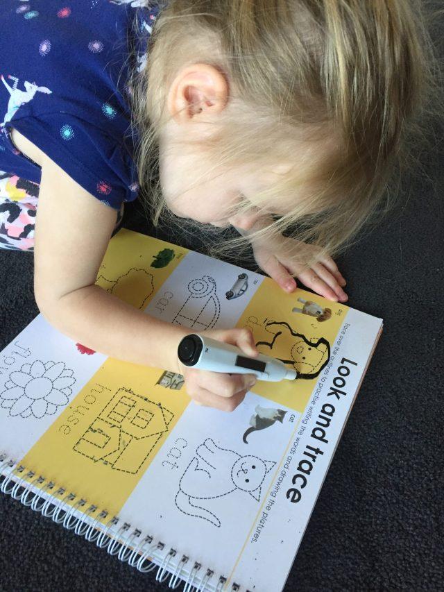 Wipeable whiteboard books help pre-writing skills.