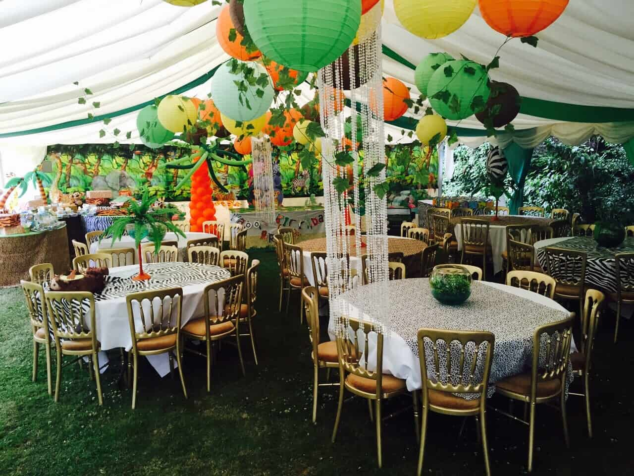 Arjuns 1st Birthday Jungle Party The Decor Baby Brain