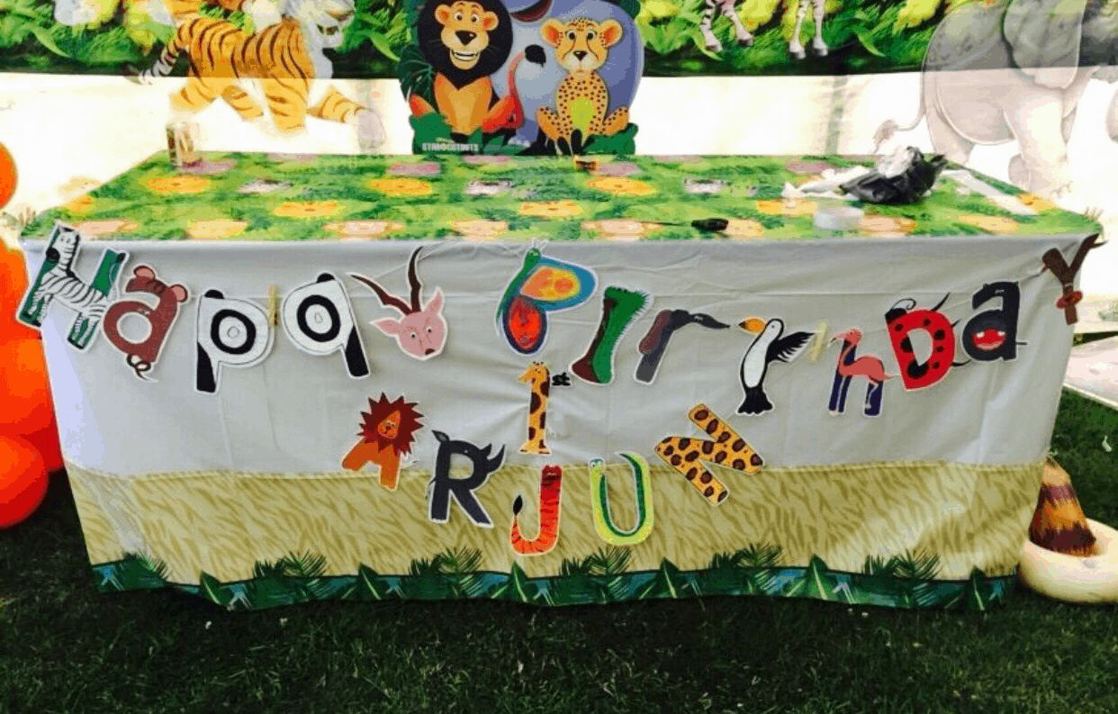Arjun S 1st Birthday Jungle Party The Decor Baby Brain Memoirs