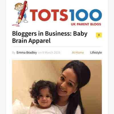 Excited! Baby Brain Apparel … Tots100 Bloggers in Business