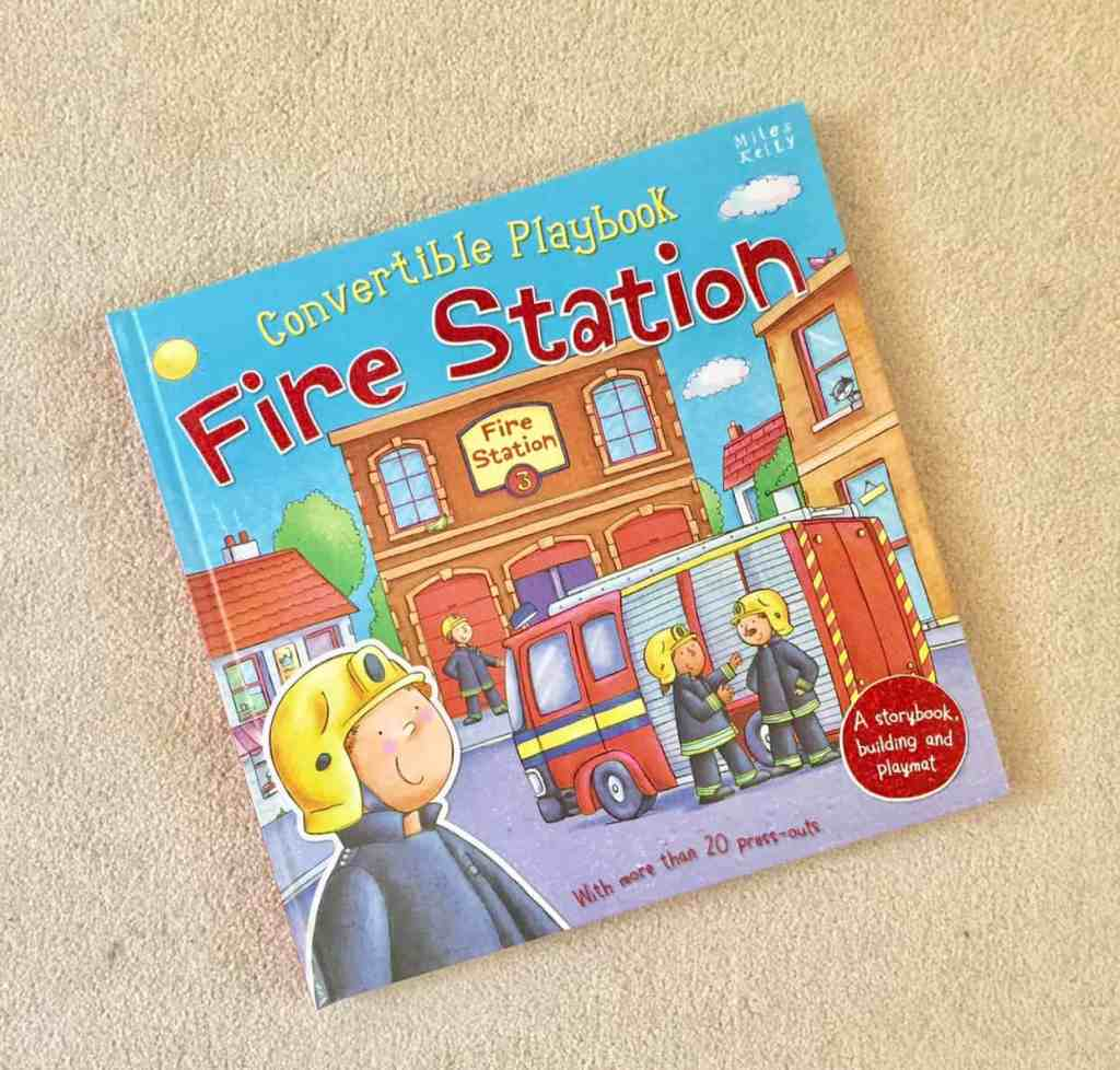 Miles Kelly Convertible Fire Engine Playmat Book Review & Giveaway