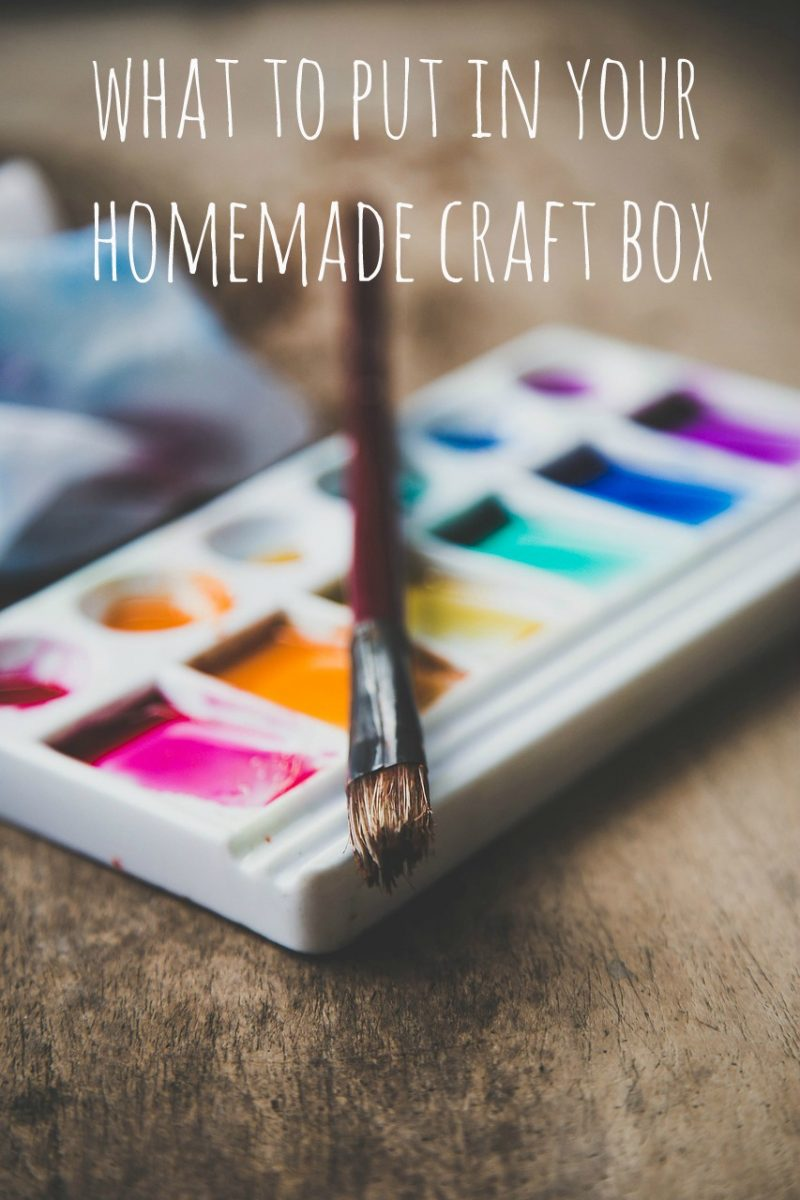 What to Put in a Homemade Craft Box