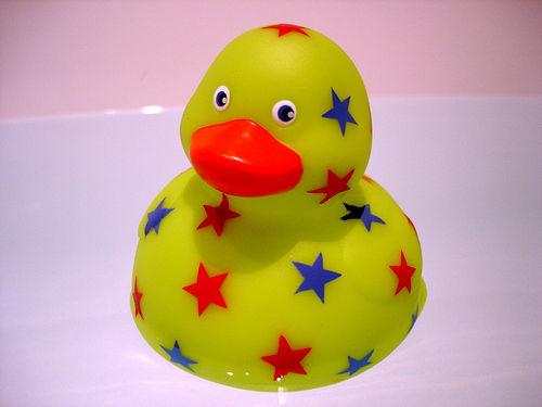 bath toy, starry duck