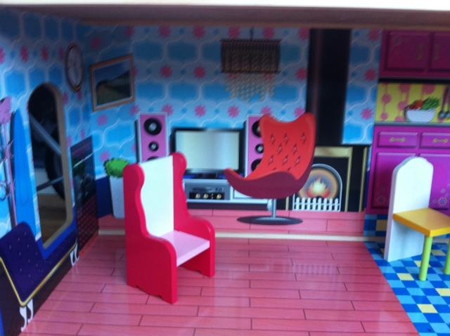 sindy doll lounge, dolls house lounge