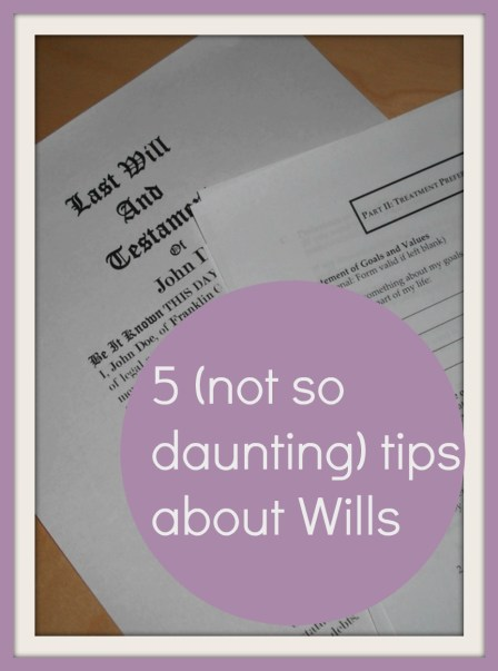5 tips about wills