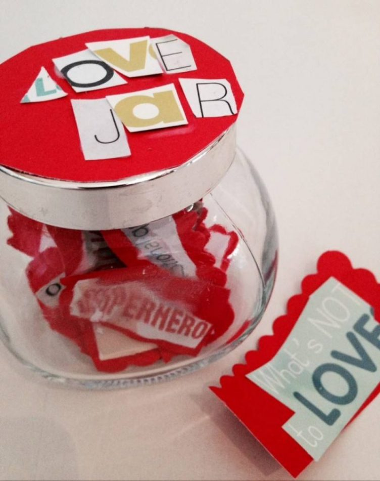 homemade ideas for Valentines Day, love jar, becky goddard-hill