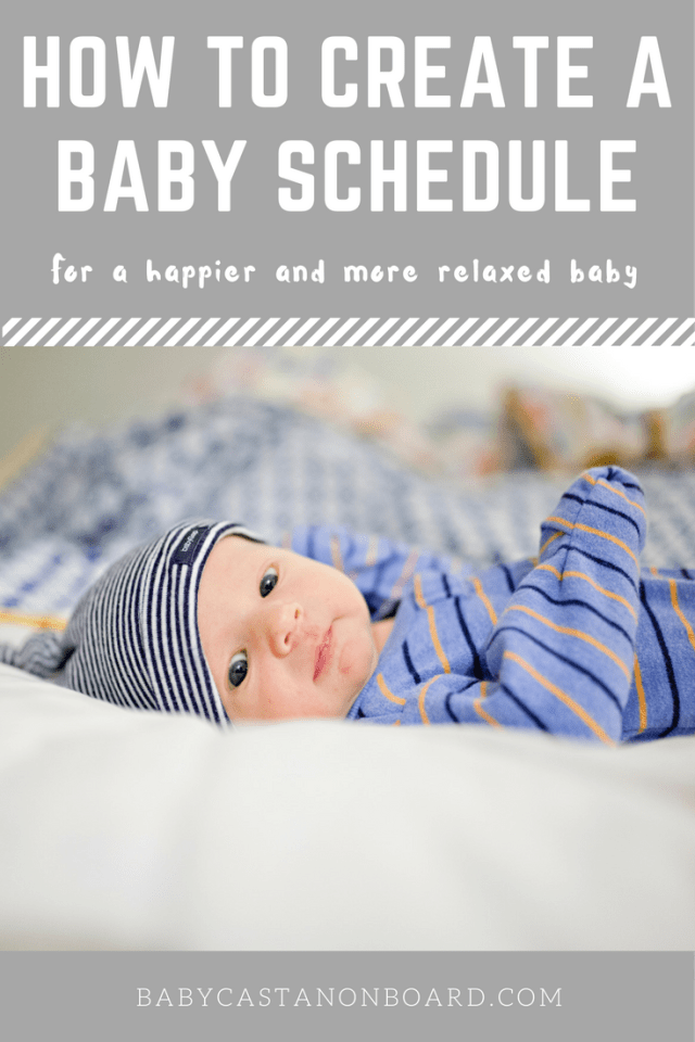 How to create a baby schedule for your newborn. A baby schedule is great because it helps them feel happier and more secure.