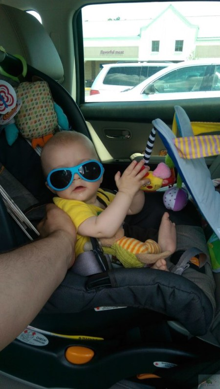 most used baby items from month seven-DC-Motherhood Blog-Road trip aiden with car toy