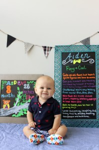 Aiden with chalkboards