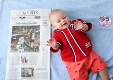 Aiden nine months sports page
