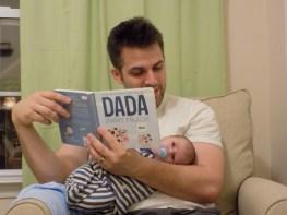 reading bedtime stories dada