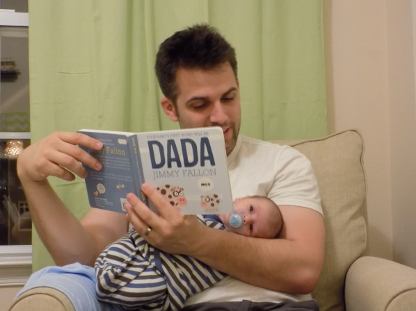 reading bedtime stories dada