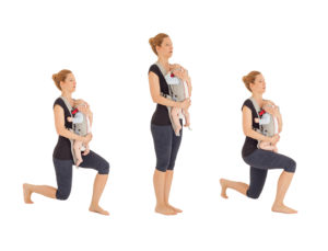 fitness-with-baby-lunges