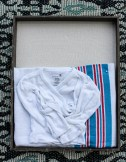I put together a quick shadow box of Aiden's first baby things from the hospital. This is a super easy DIY decoration for any room in the house!