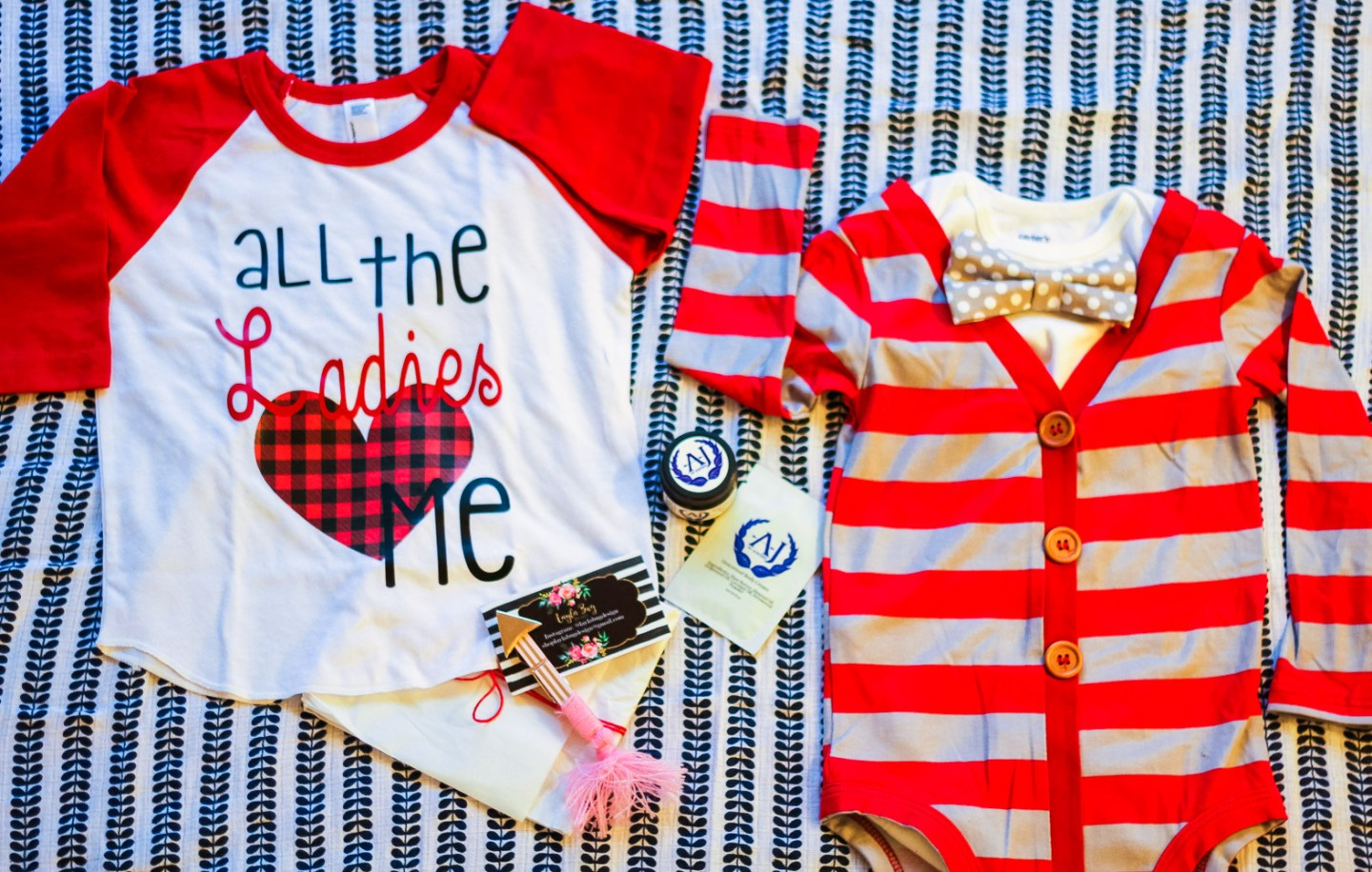 The Sweetest Valentine's Day Outfits for Baby featured by top US mommy blogger, Baby Castan on Board