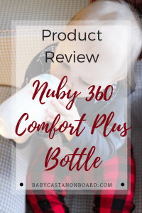 The Nuby Comfort 360 Plus+ Silicone Anti-Reflux & Anti-Colic Bottle is a great option for parents with newborns all the way to toddlers.