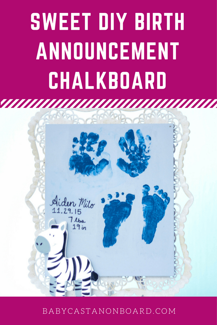 This birth announcement chalkboard is a perfect memory/keepsake gift for a new mom or grandmother! We made this when Aiden was only a couple of weeks old.